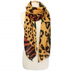 CS9241 Animal Print Oblong Scarf, Mustard